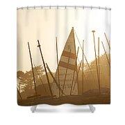 Mass Of Ships Shower Curtain