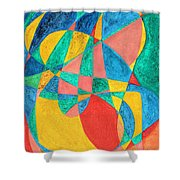 Massage In Abstract Word Art Shower Curtain