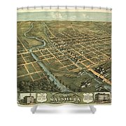 Massillon Ohio 1870 Shower Curtain