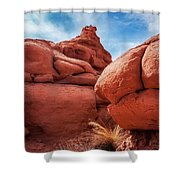 Massive Boulders At Kodachrome Park Shower Curtain