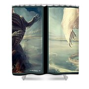 Massive Dragon - Gently Cross Your Eyes And Focus On The Middle Image Shower Curtain