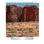 Massive Sandstone Cliffs Valley Of Fire Shower Curtain