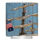 Mast Flags Shower Curtain