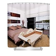 Master Bedroom With A View Shower Curtain