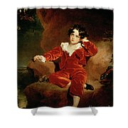 Master Charles William Lambton Shower Curtain by Sir Thomas Lawrence