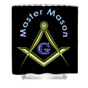 Master Mason In Black Shower Curtain