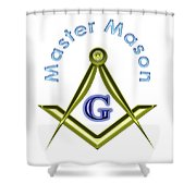 Master Mason In White Shower Curtain