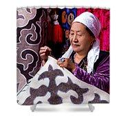 Master Of Kyrgyz National Carpet - Shyrdak  Shower Curtain