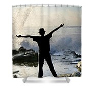 Master Of The Ocean Shower Curtain