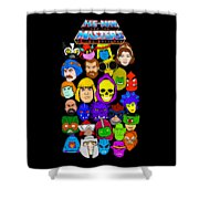 Masters Of The Universe Collage Shower Curtain