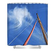 Masts And Clouds Shower Curtain