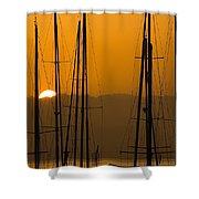 Masts At Dawn Shower Curtain