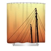 Masts Shower Curtain