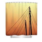 Masts Shower Curtain