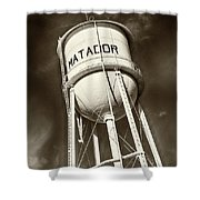 Matador Texas Water Tower Shower Curtain