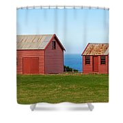 Matanaka Historic Site - Red Barn Shower Curtain