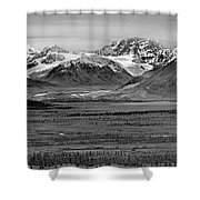 Matanuska-sustina Pano Shower Curtain