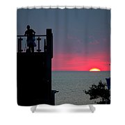 Matching July Lights Shower Curtain