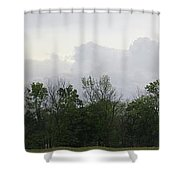 Matching Sky Lines Shower Curtain
