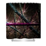 Matchstick Madness Shower Curtain