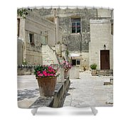 Matera With Flowers Shower Curtain