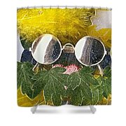 Materials And Eyeglasses Shower Curtain