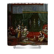 Private Chamber Of An Aristocratic Turkish Woman Shower Curtain