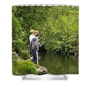 Mates Fishing Shower Curtain