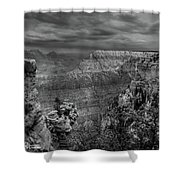 Mather Point B/w Shower Curtain