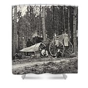 Mathew Brady Wagon Shower Curtain
