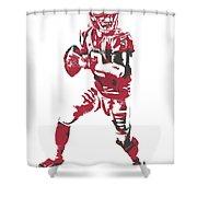 Matt Ryan Atlanta Falcons Pixel Art 5 Shower Curtain
