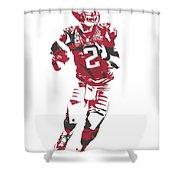 Matt Ryan Atlanta Falcons Pixel Art 6 Shower Curtain