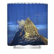 Matterhorn Mountain At Sunrise, Close Up Shower Curtain
