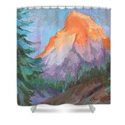 Matterhorn Sunrise Shower Curtain