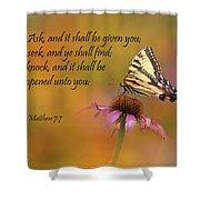 Matthew 7 7 Shower Curtain