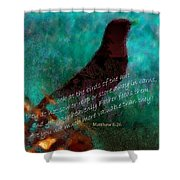 Matthew Six Verse Twenty Six Shower Curtain