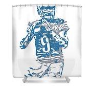 Matthew Stafford Detroit Lions Pixel Art 5 Shower Curtain