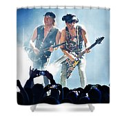 Matthias Jabs And Rudolf Schenker Shredding Shower Curtain