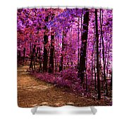 Matthiessen State Park Trail False Color Infrared No 2 Shower Curtain