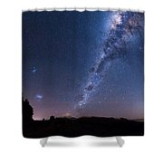 Maude Rd Galactic Core Shower Curtain