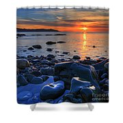 Maughold Beach Shower Curtain