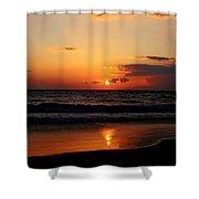 Maui Beach At Sunset Shower Curtain