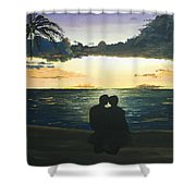 Maui Beach Sunset Shower Curtain