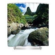 Maui, Iao Needle Shower Curtain