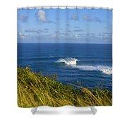 Maui, Jaws Landscape Shower Curtain