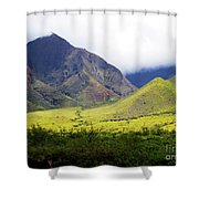 Maui Mountains Shower Curtain