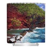 Maui Red Sand Beach Shower Curtain