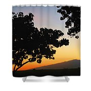 Maui Road Sunset Shower Curtain