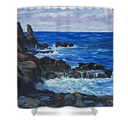 Maui Rugged Coastline Shower Curtain