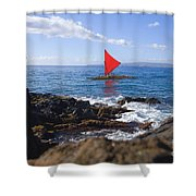 Maui Sailing Canoe Shower Curtain